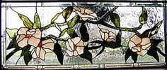 Beautiful flower stained glass banner