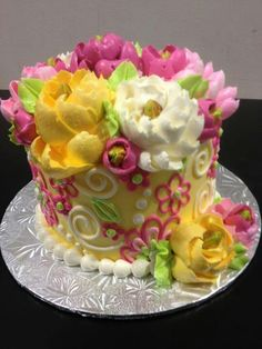 white flower cake shoppe happy yellow buttercream cake by the white flower cake 1327