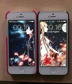 couple's phone wallpapers. ( sword art online )