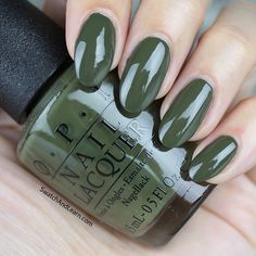 OPI Suzi - The First Lady of Nails from the Washington DC Collection: In-charge olive green on the scene!  (See more swatches on SwatchAndLearn.com.)