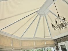 Conservatory roof blinds and roman blinds for the side #Runcorn #blinds