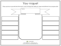 Worksheet to get an idea of a child's view of themselves