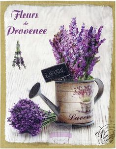 I would like this hanging on my kitchen wall. Decoupage Vintage, Decoupage Paper, Vintage Diy, Vintage Labels, Vintage Cards, Lavender Color, Lavender Flowers, Lavander, Vintage Pictures