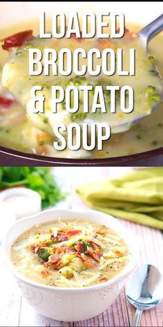 A super simple loaded broccoli and potato soup – a quick light dinner for cold fall and winter nights. Only 30 minutes! It's glutenfree and dairyfree soup comfortfood dinner quick 87538786493082719 Best Soup Recipes, Healthy Soup Recipes, Easy Dinner Recipes, Easy Meals, Cooking Recipes, Simple Soup Recipes, Keto Recipes, Broccoli Potato Soup, Broccoli Soup Recipes
