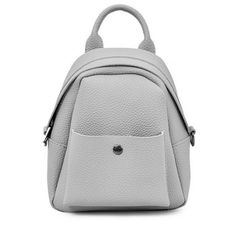 Solid Color PU Leather Backpack Gray (16 CAD) ❤ liked on Polyvore featuring bags, backpacks, zaful, knapsack bag, pu leather bag, grey backpack, grey rucksack and grey bag