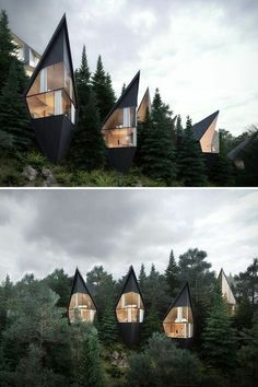 Peter Pichler Architecture has designed prism-shaped treehouses nestled in the forest of the Italian Dolomites. : Peter Pichler Architecture has designed prism-shaped treehouses nestled in the forest of the Italian Dolomites. Architecture Design, Amazing Architecture, Contemporary Architecture, Concept Architecture, Gothic Architecture, Contemporary Design, Architecture Facts, Enterprise Architecture, Architecture Sketchbook