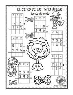 EXCELENTE CUADERNO PARA TRABAJAR UNA SEMANA EL CIRCO DE LAS MATEMÁTICAS - Imagenes Educativas First Grade Math Worksheets, Subtraction Worksheets, Printable Math Worksheets, 4th Grade Math, Spanish Classroom Activities, Math Activities, Malay Language, Math Exercises, Math For Kids