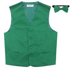 BOY'S Dress Vest & BOW TIE Solid EMERALD GREEN Color Bow ... https://www.amazon.com/dp/B00O2O3C1Y/ref=cm_sw_r_pi_dp_x_N7cRybTZRYP87