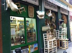 Traditional shops still remain in many Spanish towns. Granada is no exception. In the cobbled streets around the Cathedral and Bib Rambla find hats,