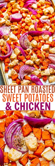 Sheet Pan Chicken and Sweet Potatoes (Quick & Easy) - Averie Cooks
