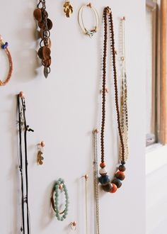 jewelry display / brass thumb tacks