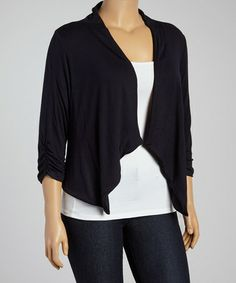 Look what I found on #zulily! Charcoal Open Cardigan - Plus #zulilyfinds