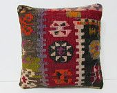 decorative pillow sofa pillow cover kilim pillow kilim rug pillow bohemian style geometric pillow case western pillow cover red pillow 25689