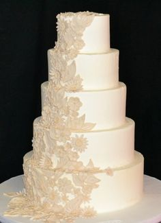 Flower Lace Wedding Cake