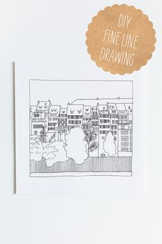 DIY Fine Line Drawing | Fellow Fellow  Might use this for save the date cards, somehow.