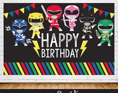 Power Ranger invitaciones Power Rangers cumpleaños fiesta de
