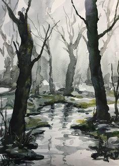 Akvarelkursus søndag 6 nov kl 10:30 - 17 - akvarelmaling og teknik
