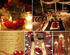 red gold winter wedding colors themes Winter Wedding Colors!