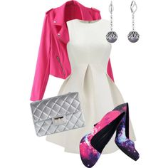 White and Pink by stylebyliyah on Polyvore featuring Design Inverso and Majorica