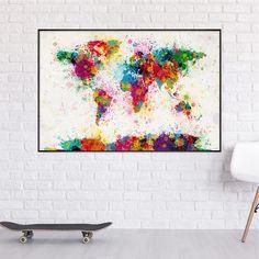 Dekoracyjne i ponadczasowe-Dzięki wszechstronnemu schematowi kolorystycznemu obraz można łączyć idealnie, zmieści się w prawie każdym pomieszczeniu, w biurze lub jako prezent dla Globetrotters i miłośników sztuki nowoczesnej. Dekoracja ścienna, która sprawia, że jesteś szczęśliwy!