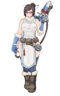 borealisowl: Mei / viccik OQ she always says that she is overdressed for alot of maps Overwatch Mei, Overwatch Comic, Overwatch Fan Art, Overwatch Drawings, Mei Ling Zhou, Loki, V Games, Video Game Characters, Marvel