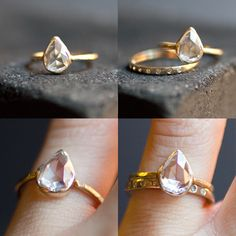Pear shaped engagement ring!! I Chantel LOVE them and maybe ill own one one day :)