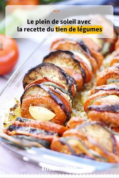 Tian de légumes, une recette provençale qui consiste à alterner les rondelles de légumes serrées les unes contre les autres dans un plat à gratin #marmiton #cuisine #recette #recettemarmiton #tian #legume #aubergine #tomate #courgette #provençal