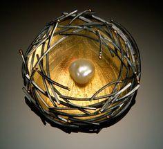 Sydney Lynch-Bird Nest pin
