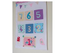 This countdown calendar is perfect for a little or big girl looking forward to their Birthday or a special occasion. Each pocket can be filled with