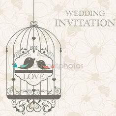 Descargar - Invitación de la boda — Ilustración de stock #9111301