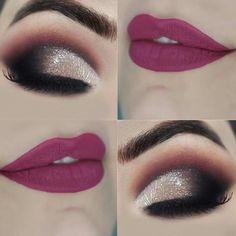 Make Up Inspiration Pretty Eye Makeup, Makeup Eye Looks, Colorful Eye Makeup, Smokey Eye Makeup, Eyeshadow Makeup, Eyeshadows, Lipsticks, Indian Eye Makeup, Indian Eyes