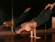 Beautiful yoga man g