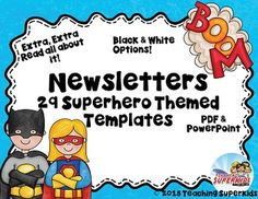Superhero theme classroom newsletter this free back to school 29 superhero themed newsletter templates editable in pdf or powerpoint if you purchased the bundle toneelgroepblik Image collections