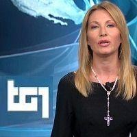 BASTABUGIE - LA GIORNALISTA RAI MARINA NALESSO CONDUCE IL TG CON IL ROSARIO AL COLLO... APRITI CIELO! Rosario, Heaven, Culture