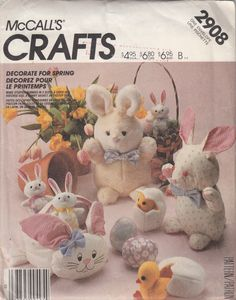 Uncut 1980s Easter Spring Crafts Pattern McCalls 2908 by Redcurlzs