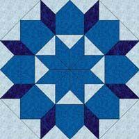 Star of Bethlehem block (free pattern PDF) - same block used in Swoon pattern
