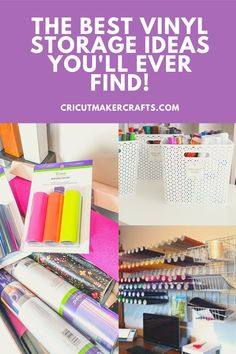 Here are some Cricut and other craft vinyl storage ideas that are NOT Ikea shopping bag holder related. No. 8 and 9 are SO COOL and my FAV. Click to check out now!