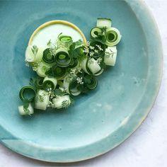 Cucumber & Coriander Tart