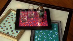 the chew | Clinton's Craft Corner - Eglomise Serving Tray