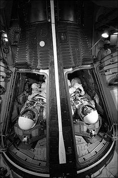 Gemini Astronauts McDivitt & White Capsule Photo Print for Sale