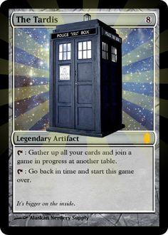 Magic the Gathering Custom Foil Card  The Tardis from Dr. Who by AlaskanNerderySupply