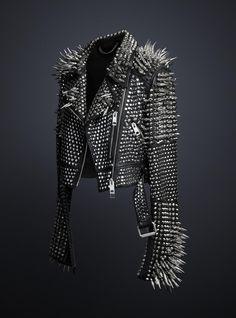 black studded leather jacket - Google Search