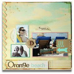 beach scrapbook page