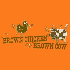 BROWN CHICKEN BROWN COW FUNNY T-SHIRT