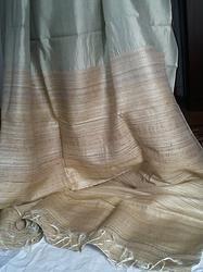 Tussar silk Saree  www.kasavcollections.com Natural color tussar silk saree with Ghicha Pallav.  traditional # Indian # hand woven # sari