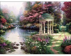 Thomas Kinkade Garden of Prayer