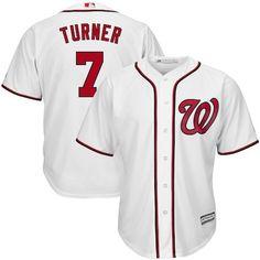 Trea Turner Washington Nationals Majestic Home Cool Base Player Jersey -  White Washington Nationals 471305134