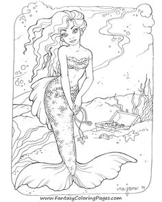 diane s martin mermaid coloring pages