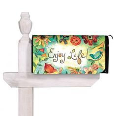 Field of Flowers Magnetic Mailbox Cover. -- Love this, my welcome rug says the same thing. Mailbox Monogram, Magnetic Mailbox Covers, Painted Mailboxes, Outside Patio, My Dream Home, Magnets, Whimsical, Design Inspiration, Invitations