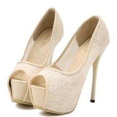 Woman Hit Color Lace Hollow Sandals..